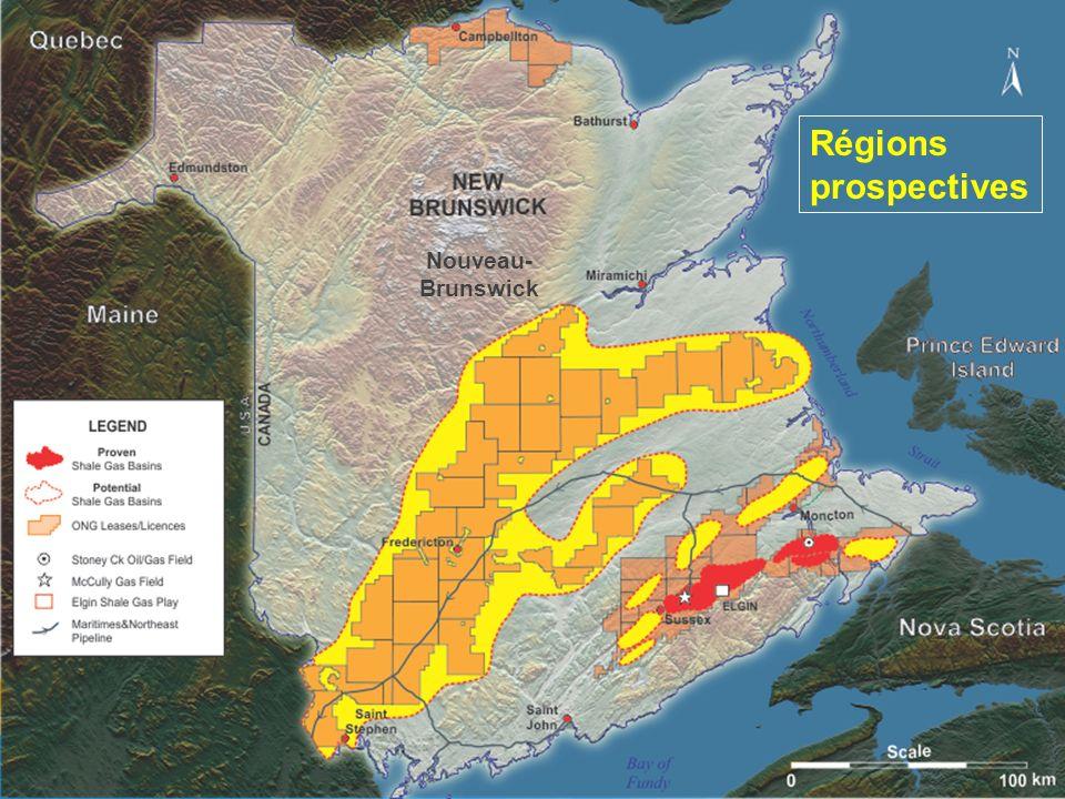 Nouveau- Brunswick Régions prospectives