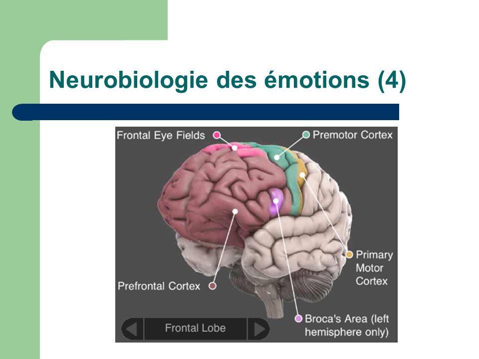 Neurobiologie des émotions (5) Double nature du message: chimique et électrique.