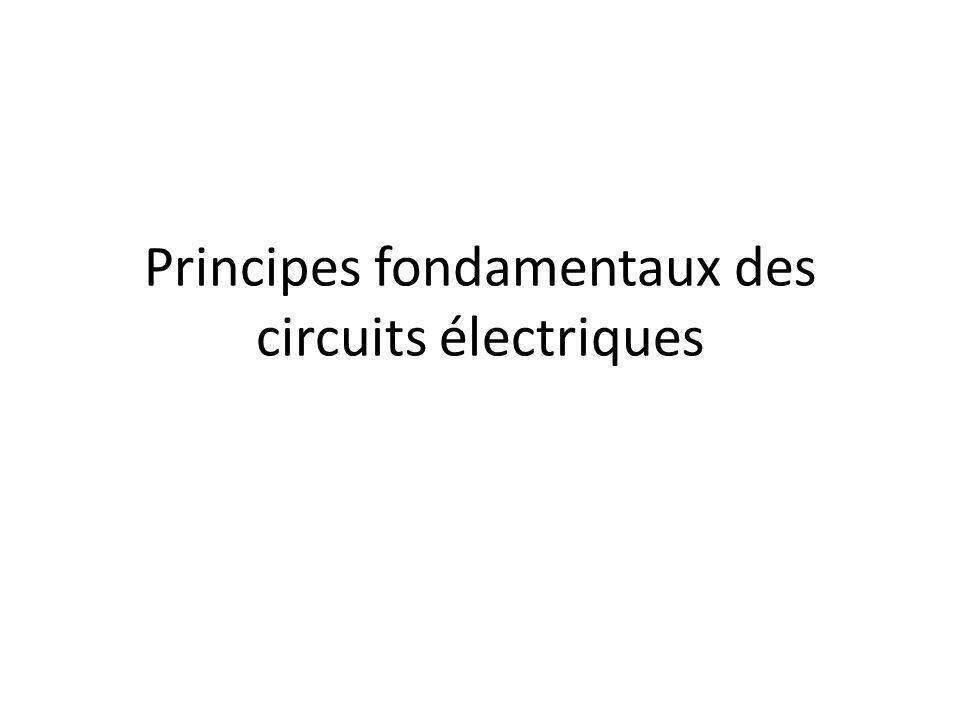Permet de quantifier la moyenne dans le temps de lénergie dépensée ou acquise par un composant ou circuit électrique En pratique, on exprime la puissance en termes de courant et de tension : Lunité de puissance est le watt (W) – Dépense dénergie de 1 J/s – Courant de 1 A entre deux points entre lesquels existe une tension de 1 V La puissance électrique