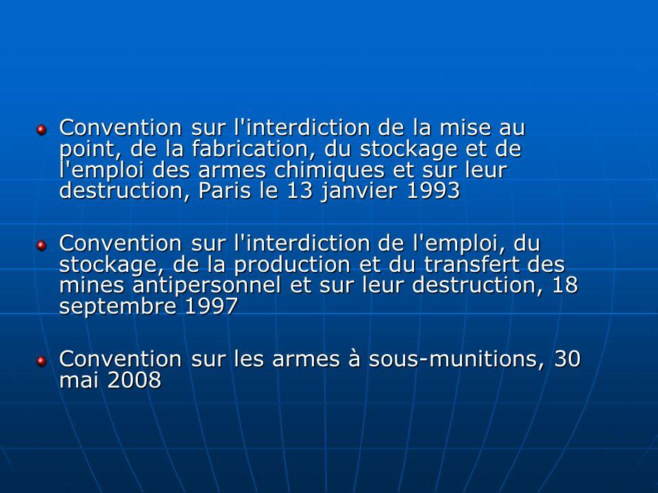 Convention sur l'interdiction de la mise au point, de la fabrication, du stockage et de l'emploi des armes chimiques et sur leur destruction, Paris le