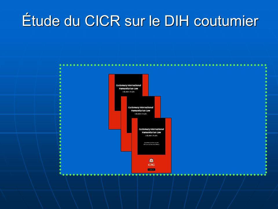 Étude du CICR sur le DIH coutumier