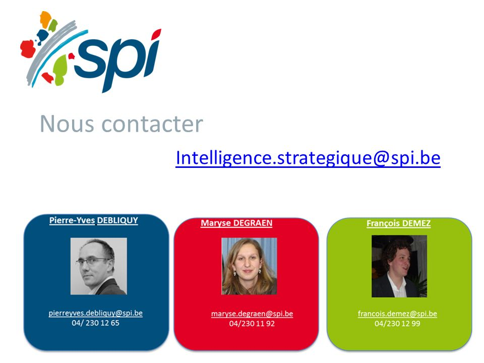 Nous contacter Intelligence.strategique@spi.be
