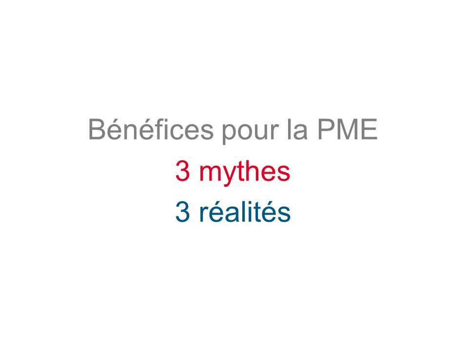 Bénéfices pour la PME 3 mythes 3 réalités