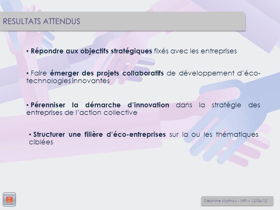 Répondre aux objectifs stratégiques fixés avec les entreprises Faire émerger des projets collaboratifs de développement déco- technologies innovantes