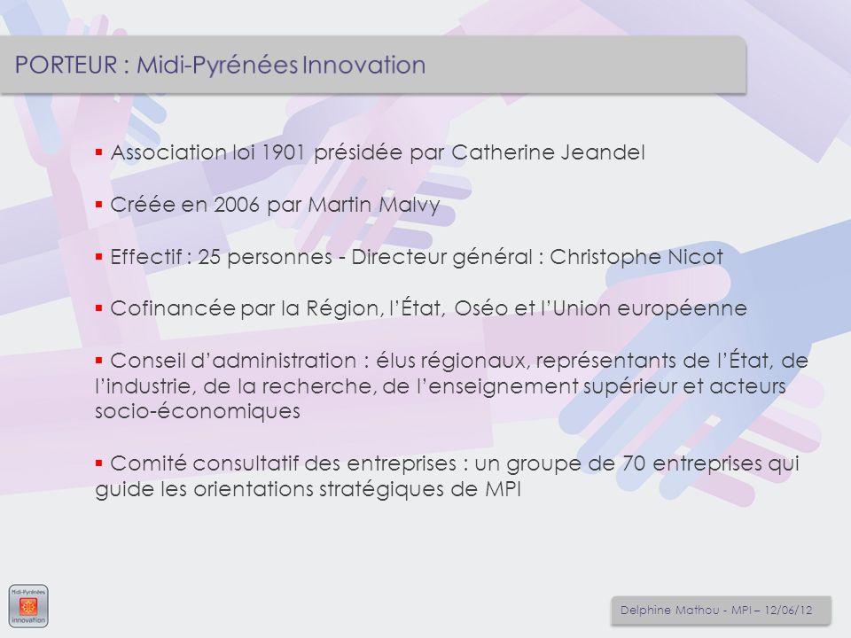 Association loi 1901 présidée par Catherine Jeandel Créée en 2006 par Martin Malvy Effectif : 25 personnes - Directeur général : Christophe Nicot Cofi