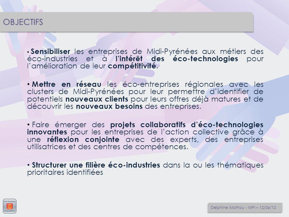 Sensibiliser les entreprises de Midi-Pyrénées aux métiers des éco-industries et à lintérêt des éco-technologies pour lamélioration de leur compétitivi