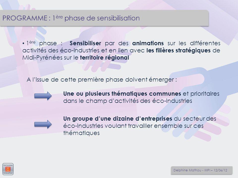 1 ère phase : Sensibiliser par des animations sur les différentes activités des éco-industries et en lien avec les filières stratégiques de Midi-Pyrén