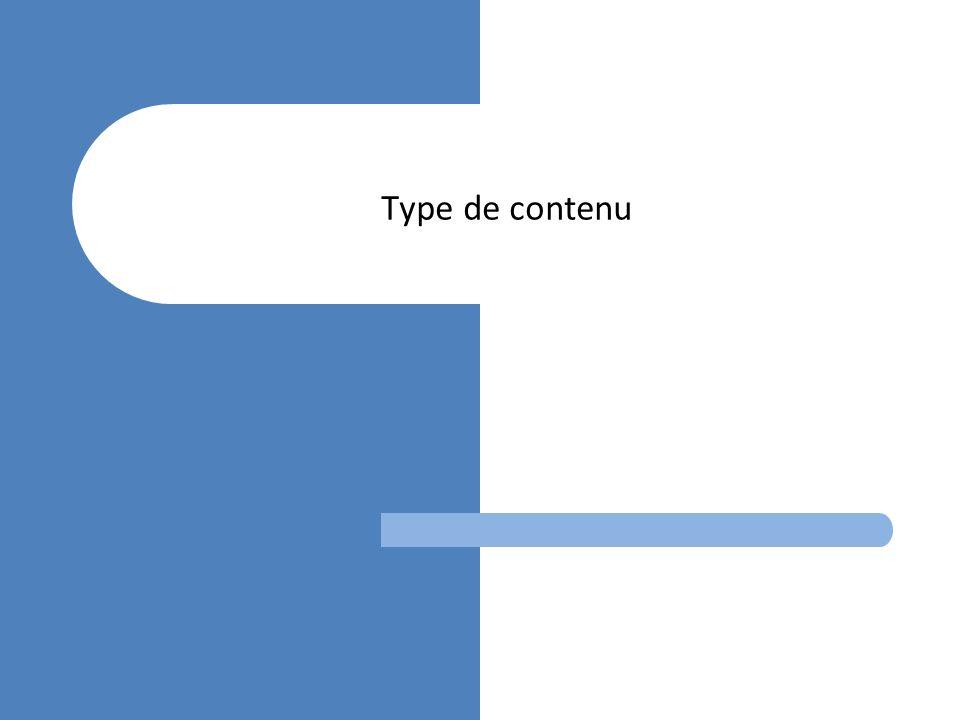 Type de contenu