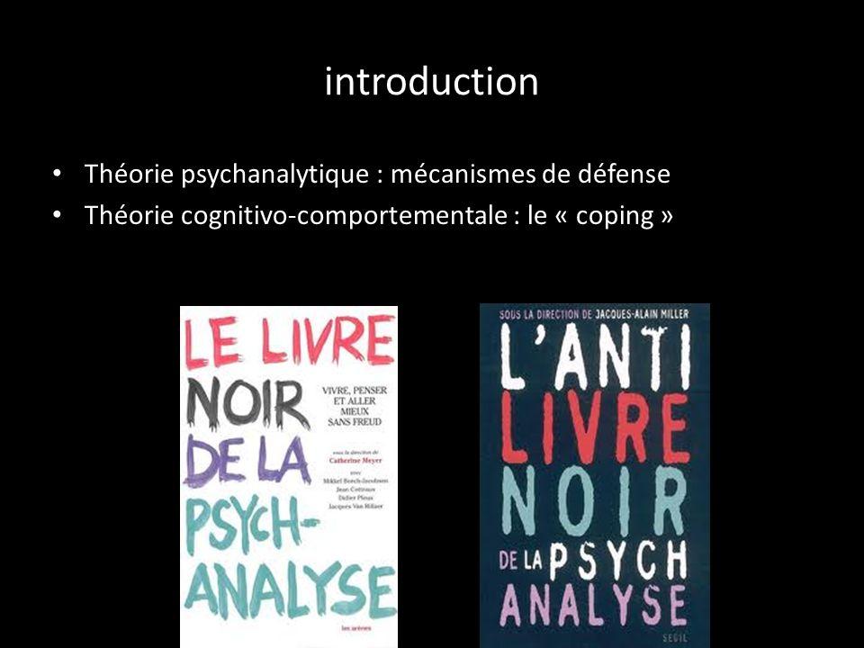 PLAN Introduction 1- Réaction à la maladie selon les différentes phases 2- Exemple de mécanismes de défenses 3- Stratégie de coping