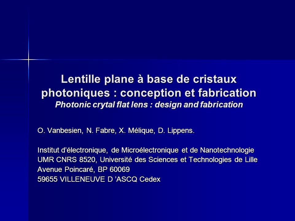 Lithographie électronique 1.Fabrication d un prototype Prise en compte des effets de proximité (par simulation Monte-Carlo) Variations de doses adaptées à la géométrie locale