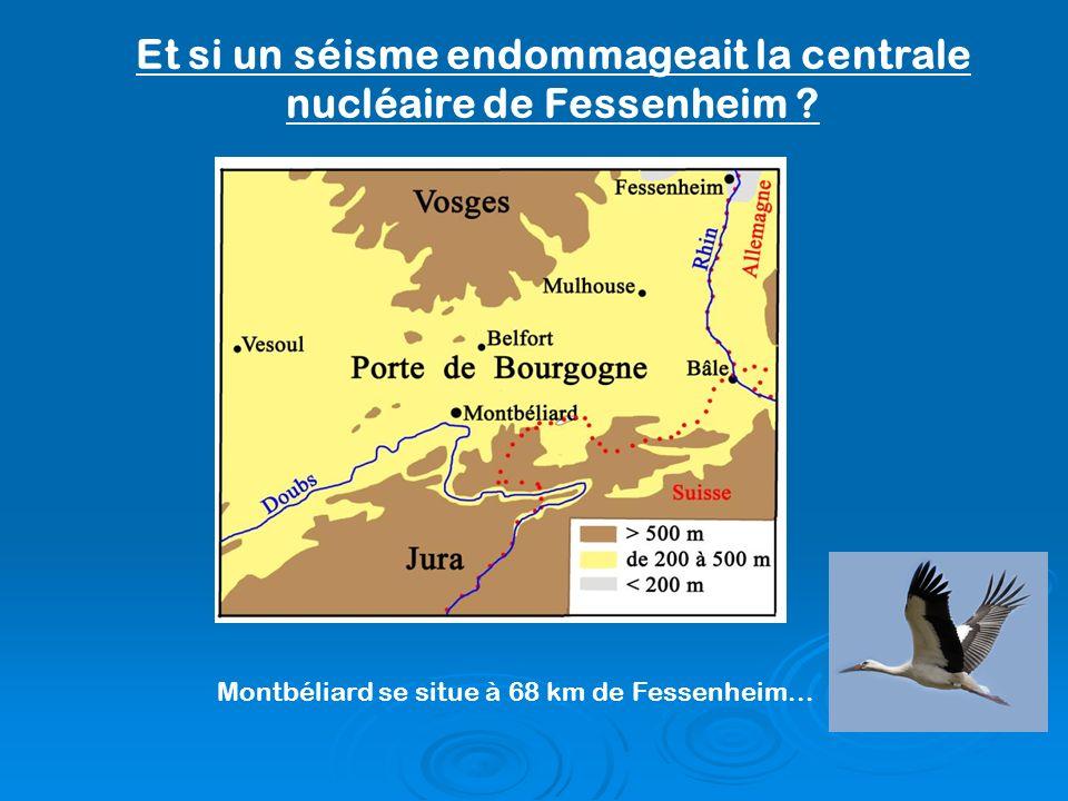 Et si un séisme endommageait la centrale nucléaire de Fessenheim ? Montbéliard se situe à 68 km de Fessenheim...