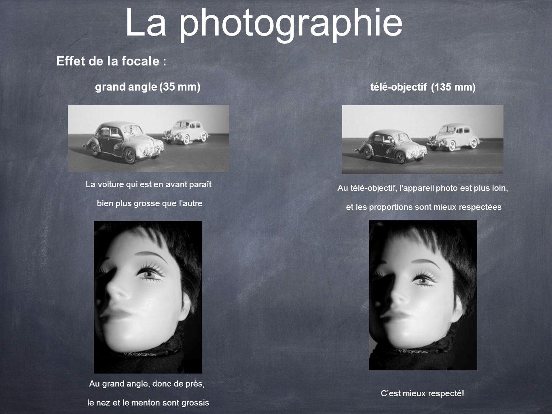 La photographie Effet de la focale : Au télé-objectif, l'appareil photo est plus loin, et les proportions sont mieux respectées La voiture qui est en
