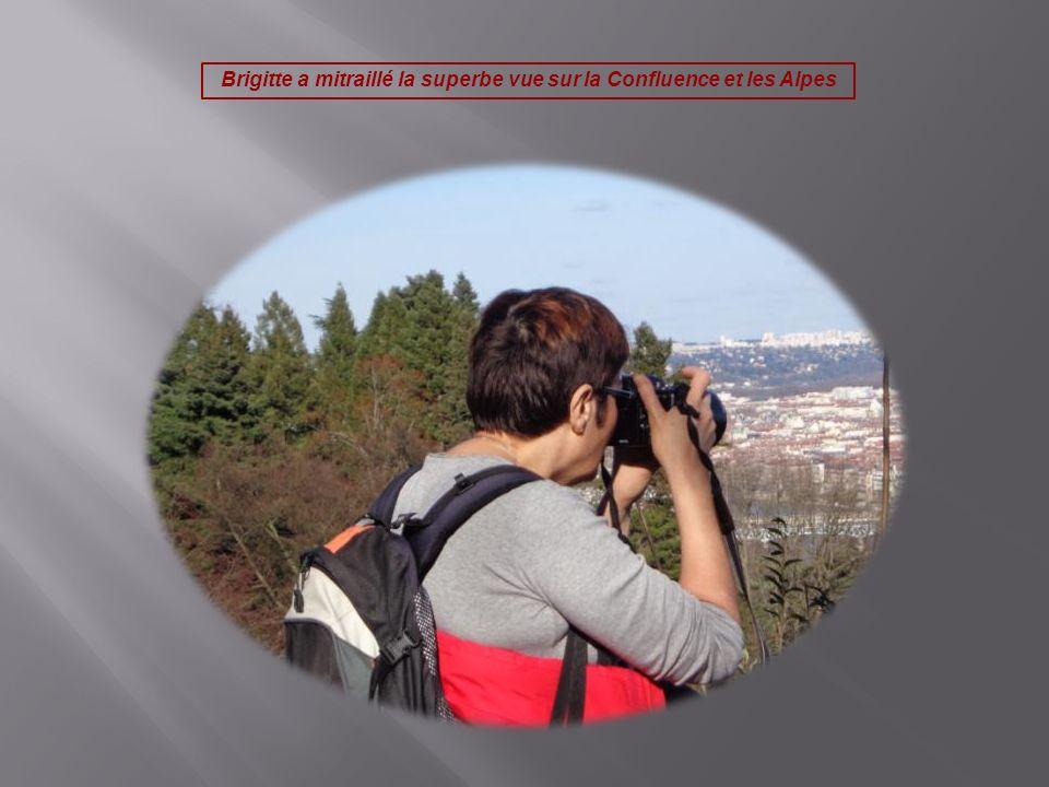 Brigitte a mitraillé la superbe vue sur la Confluence et les Alpes