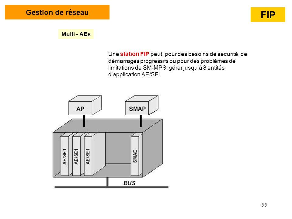 55 Gestion de réseau Multi - AEs Une station FIP peut, pour des besoins de sécurité, de démarrages progressifs ou pour des problèmes de limitations de