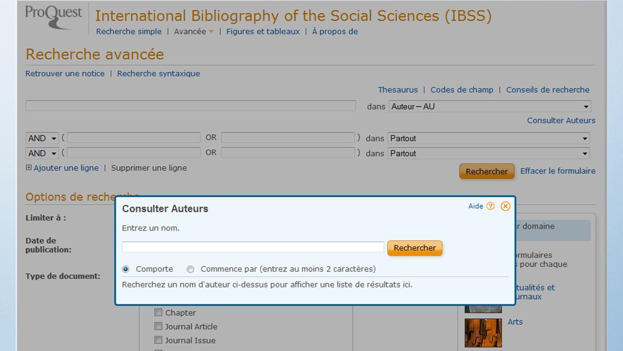 2) Les sites des ressources bibliographiques