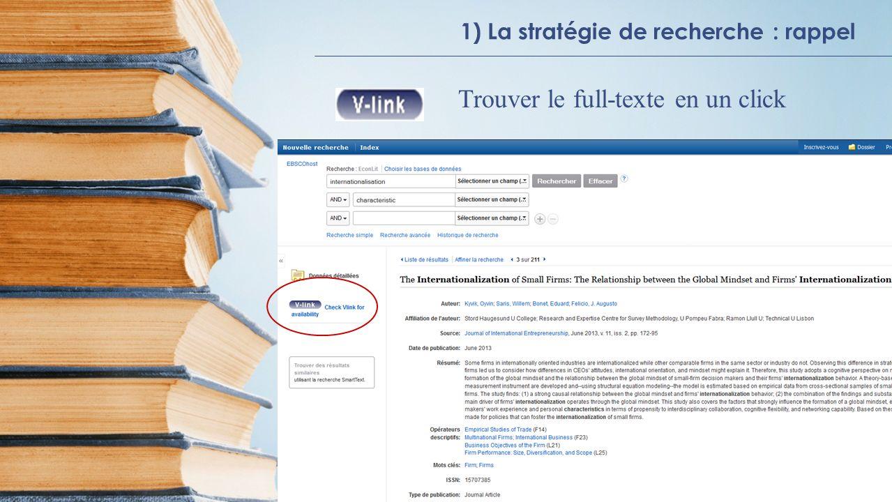 2) Bases de données en texte intégral Accéder via BIBECO -> Bases de données -> Liste systématique -> Bases de données bibliographiques et textuellesBIBECO