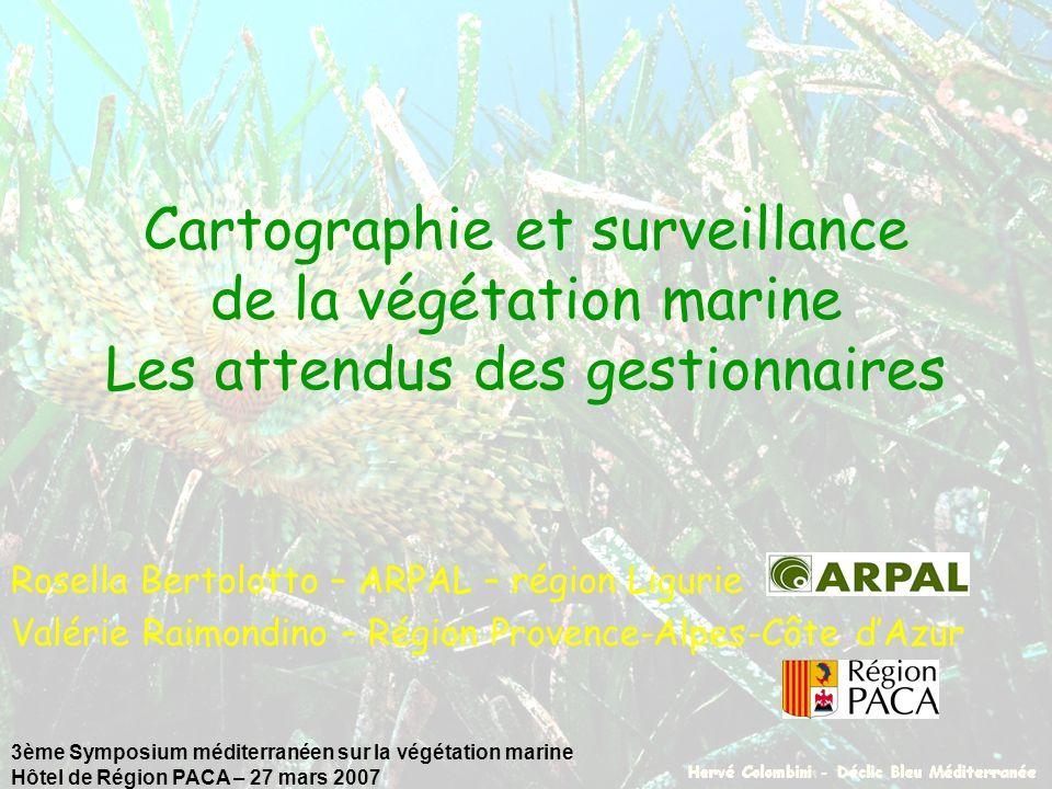 3ème Symposium méditerranéen sur la végétation marine Hôtel de Région PACA – 27 mars 2007 Cartographie et surveillance de la végétation marine Les att