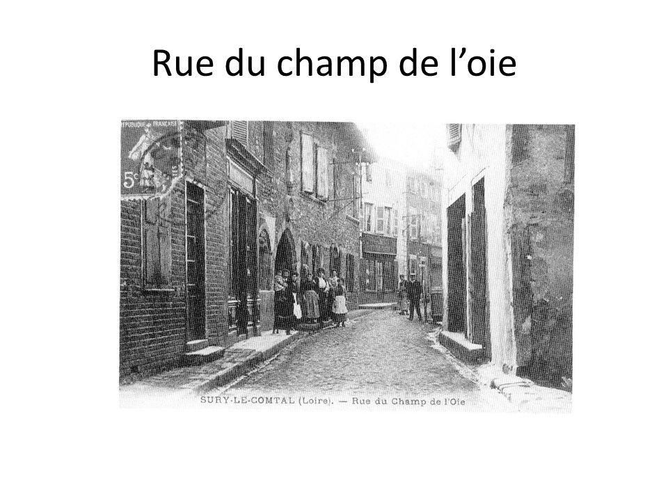 Rue du champ de loie