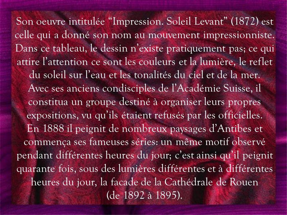Claude Oscar MONET (1840-1926) II Présenté par LORALIX