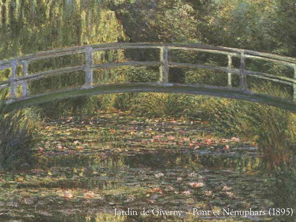 Dans les dernières années de sa vie, presque aveugle, il peignit de nombreuses fois les nénuphars de son jardin de Giverny, et dans ces oeuvres il por