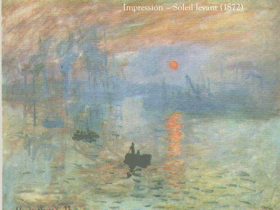 Son oeuvre intitulée Impression. Soleil Levant (1872) est celle qui a donné son nom au mouvement impressionniste. Dans ce tableau, le dessin nexiste p
