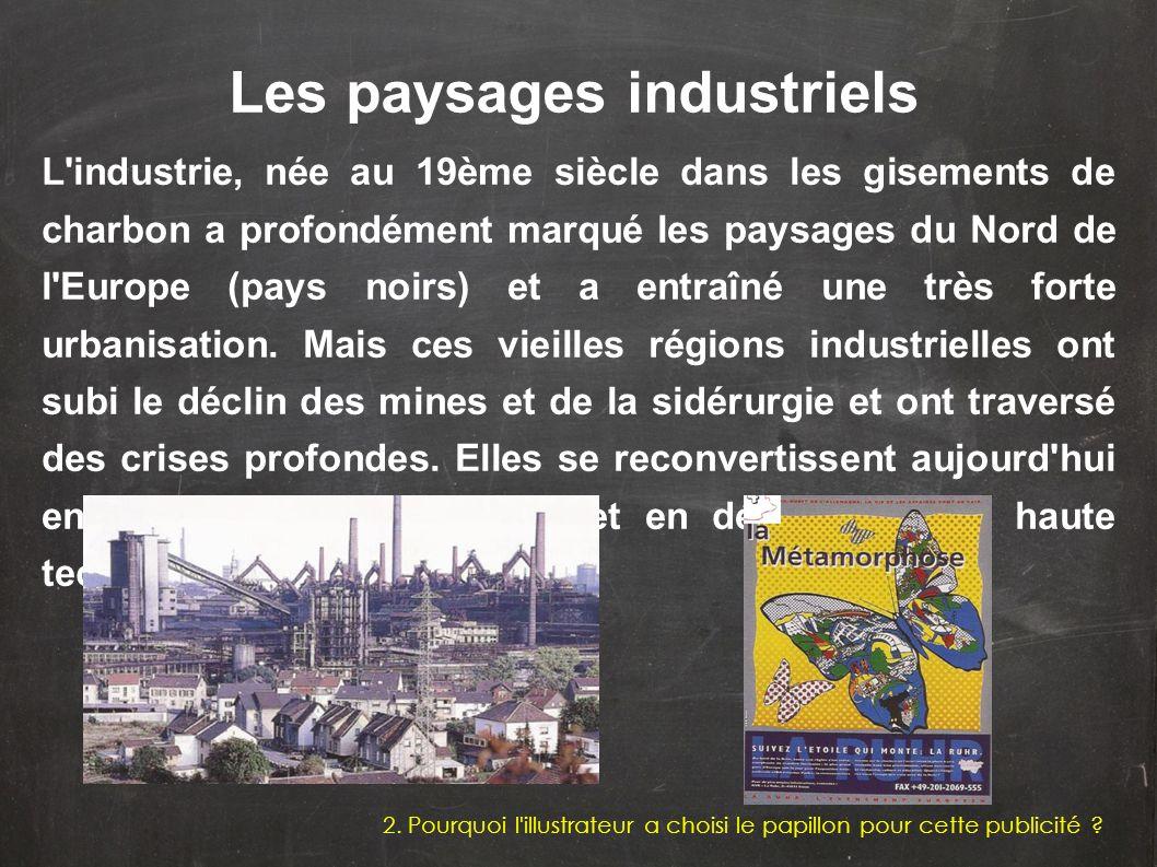 L'industrie, née au 19ème siècle dans les gisements de charbon a profondément marqué les paysages du Nord de l'Europe (pays noirs) et a entraîné une t