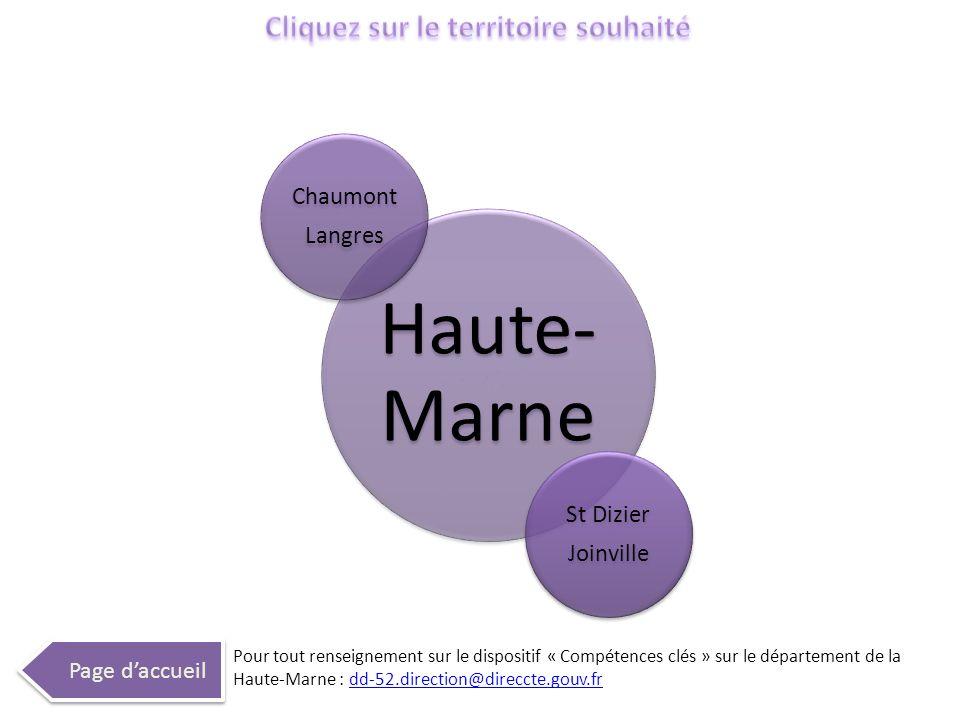 Haute- Marne Chaumont Langres St Dizier Joinville Page daccueil Pour tout renseignement sur le dispositif « Compétences clés » sur le département de l