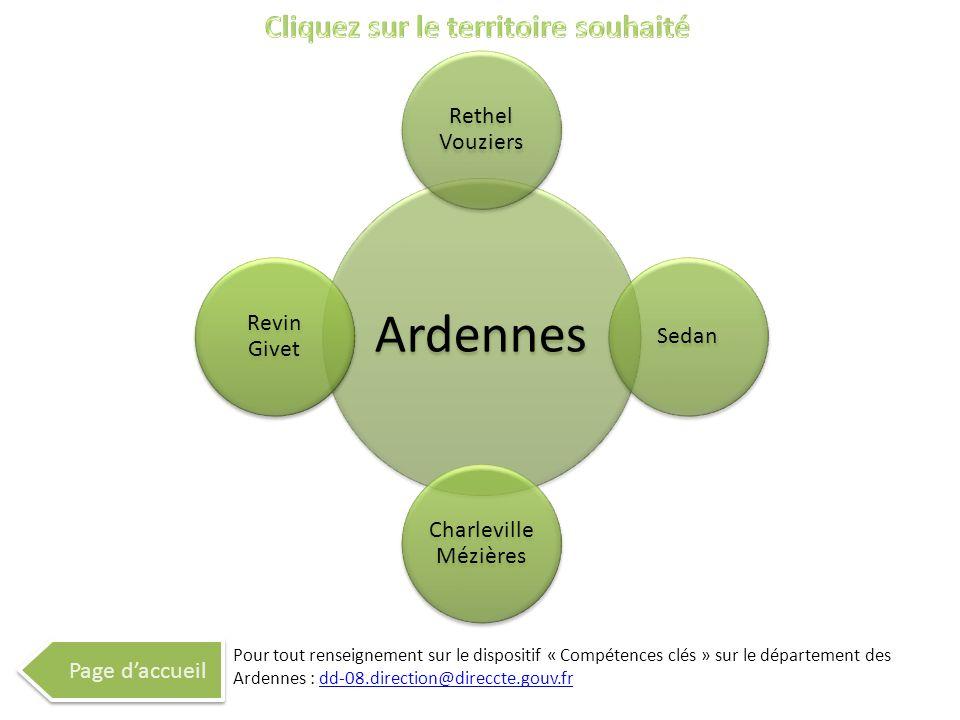 Ardennes Rethel Vouziers Sedan Charleville Mézières Revin Givet Page daccueil Pour tout renseignement sur le dispositif « Compétences clés » sur le dé