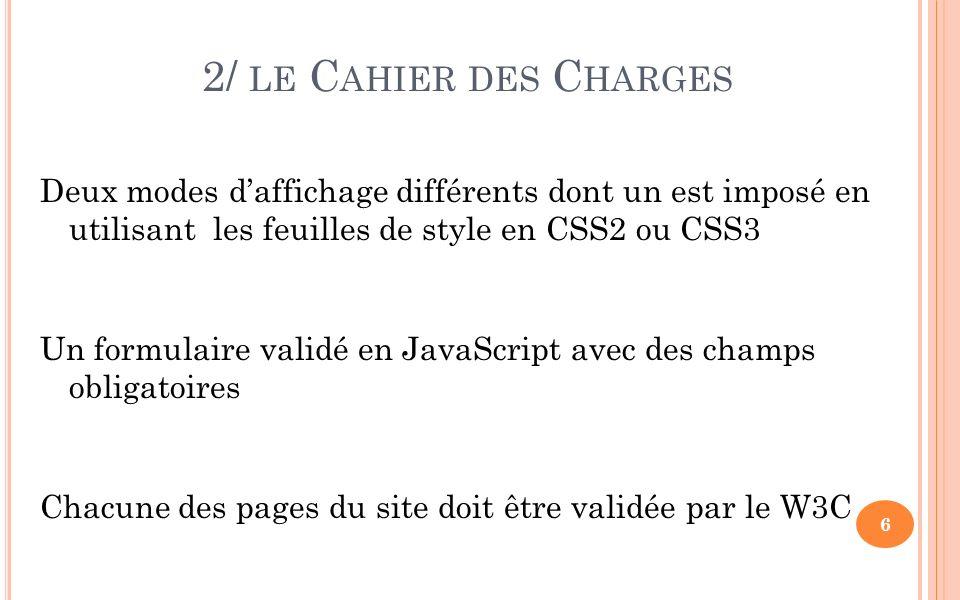 6/ UN C ODE I NTÉRESSANT Présence dattributs non définis dans les spécifications XHTML donc non reconnus par le W3C required mask (utilisés avec le plugin JQUERY Form Validation pour vérifier les différents champs dun formulaire) POURTANT, la page est correcte au niveau du validateur 27