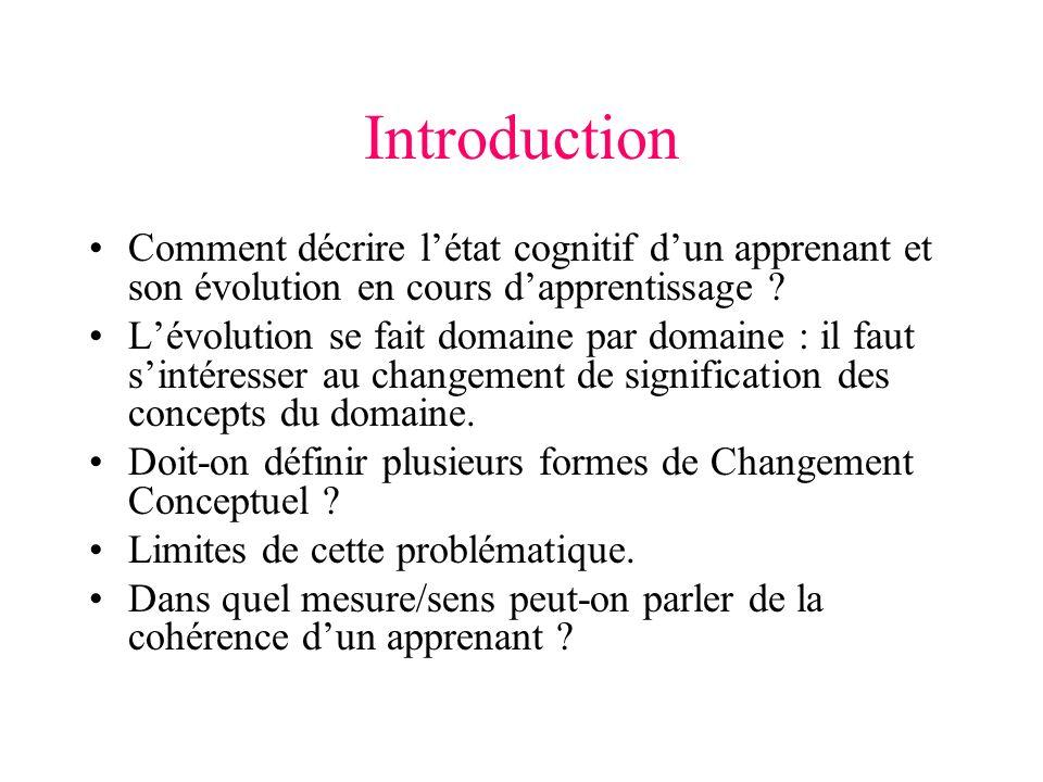 Introduction Comment décrire létat cognitif dun apprenant et son évolution en cours dapprentissage .