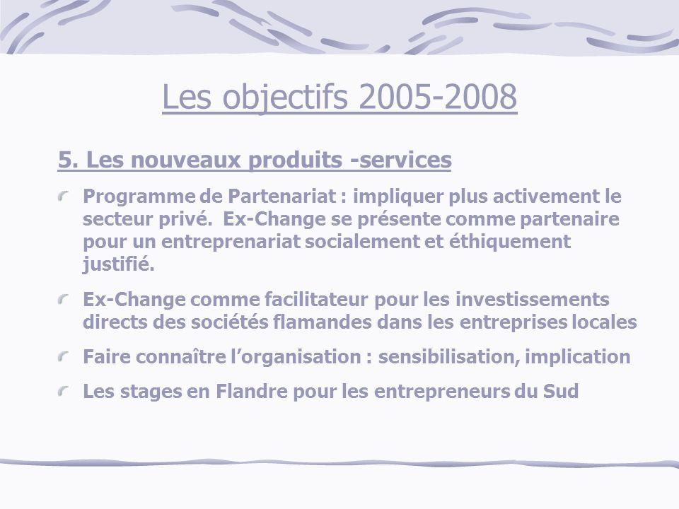 Les objectifs 2005-2008 5.
