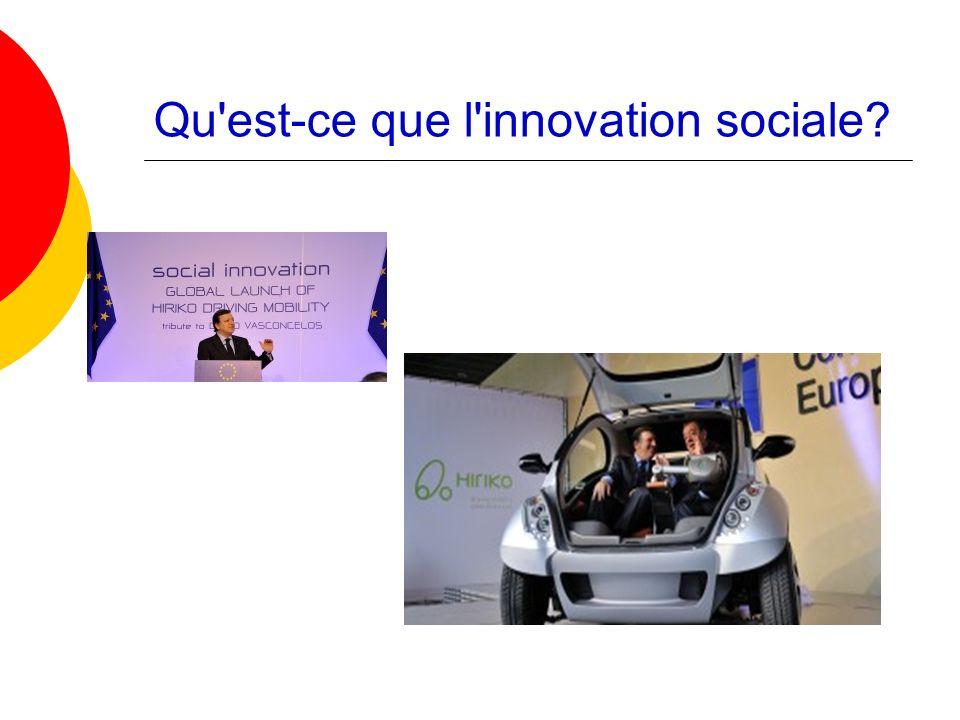 Qu'est-ce que l'innovation sociale?