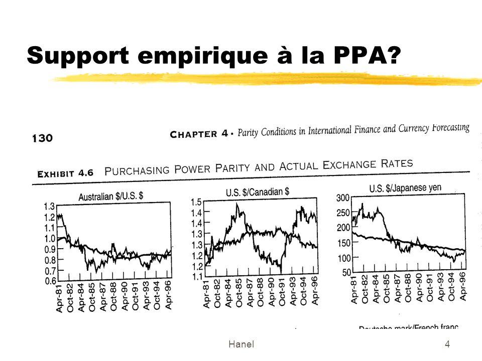Hanel5 Exemple de la parité de pouvoir dachat version relative Support empirique à la théorie de la PPA.