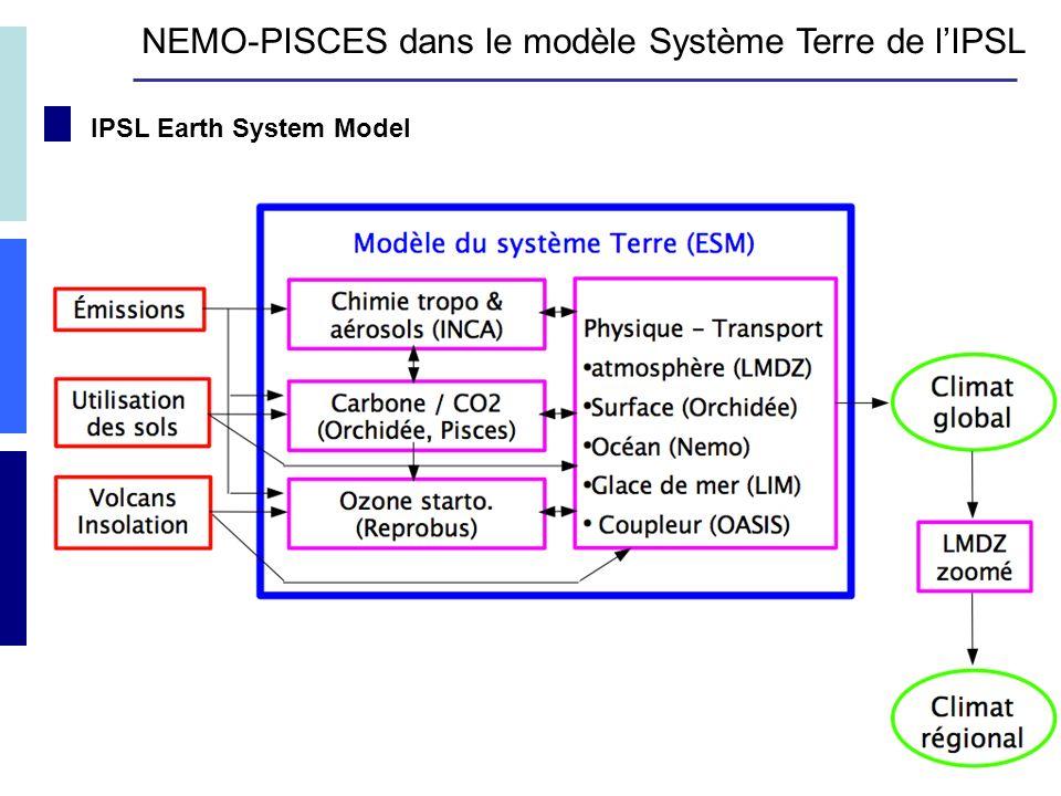 IPSL Earth System Model NEMO-PISCES dans le modèle Système Terre de lIPSL