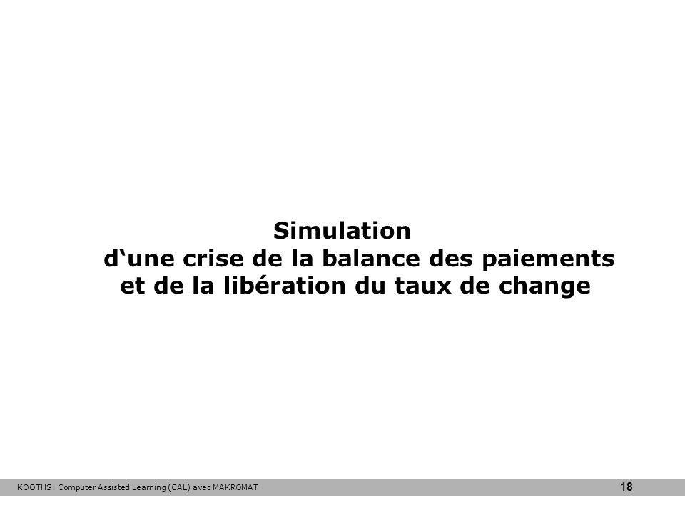 KOOTHS: Computer Assisted Learning (CAL) avec MAKROMAT 18 Simulation dune crise de la balance des paiements et de la libération du taux de change