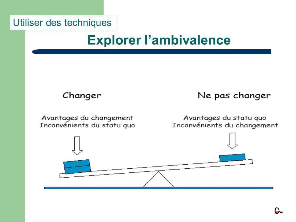 Explorer lambivalence Utiliser des techniques