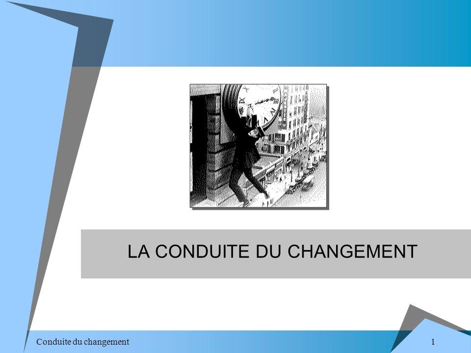 1 Conduite du changement LA CONDUITE DU CHANGEMENT