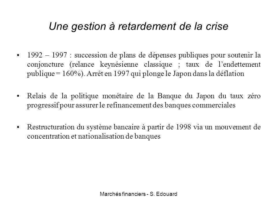 Une gestion à retardement de la crise 1992 – 1997 : succession de plans de dépenses publiques pour soutenir la conjoncture (relance keynésienne classi