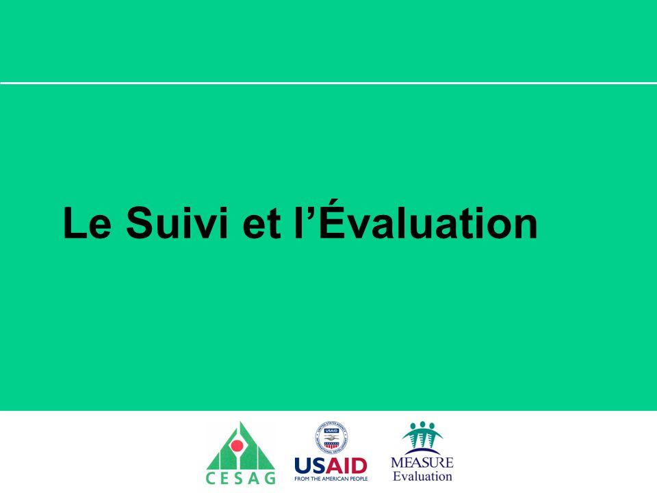 Séminaire Suivi / Evaluation des programmes de santé Dakar, Sénégal, 18 juin au 6 juillet 2007 Le Suivi et lÉvaluation