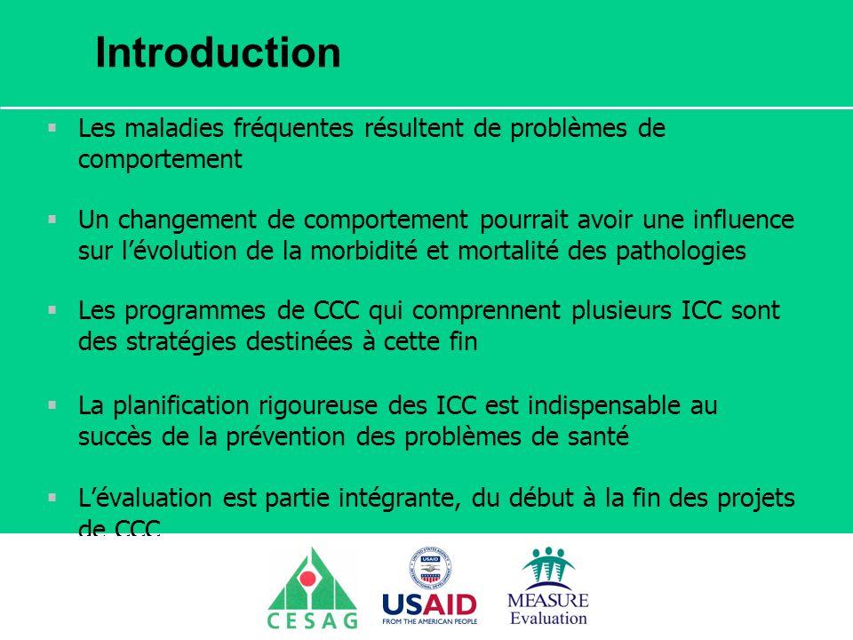 Séminaire Suivi / Evaluation des programmes de santé Dakar, Sénégal, 18 juin au 6 juillet 2007 Introduction Les maladies fréquentes résultent de probl