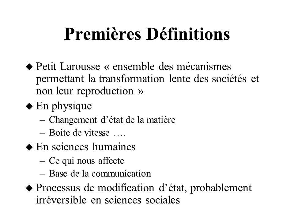 Changement : dune logique discrète à une logique continue = De transition détats stables A transition détats méta-stables A transition interrompue