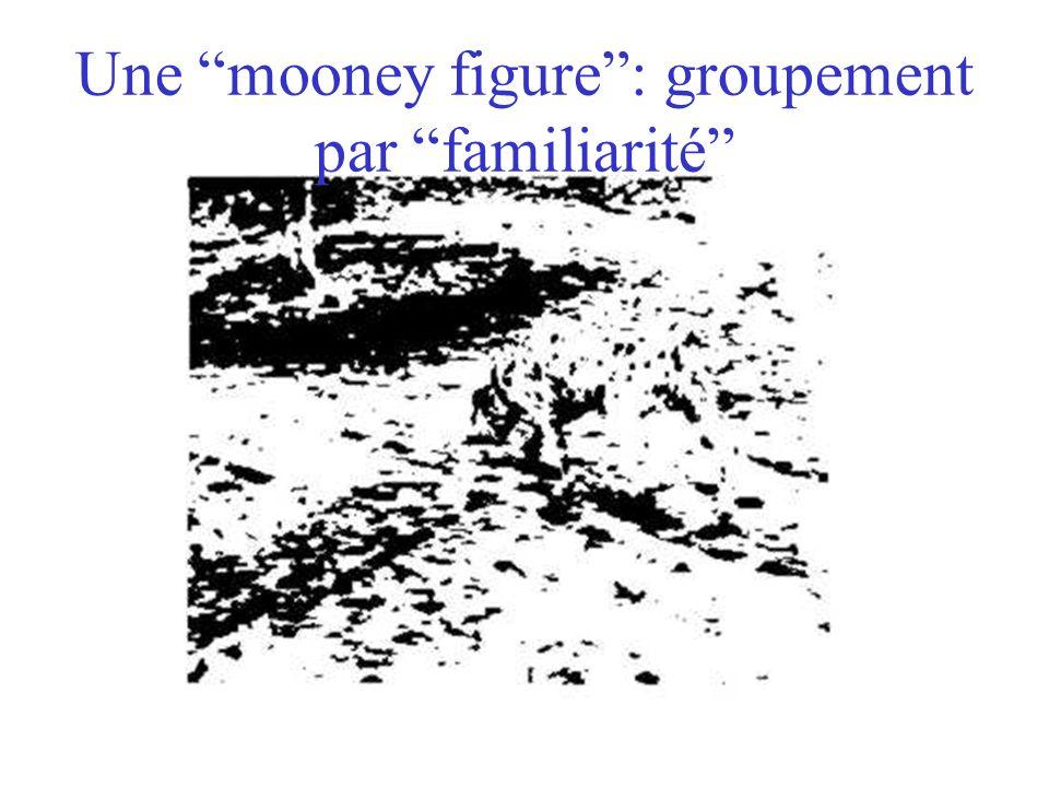 Une mooney figure: groupement par familiarité