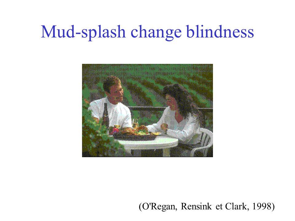 Mud-splash change blindness (O'Regan, Rensink et Clark, 1998)