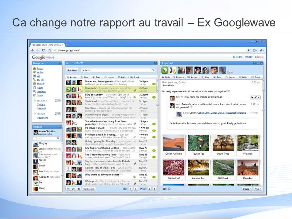 Ca change notre rapport au travail – Ex Googlewave