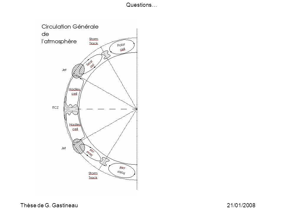 Thèse de G. Gastineau21/01/2008 Questions…