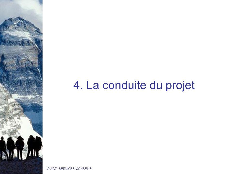 © AGTI SERVICES CONSEILS 4. La conduite du projet