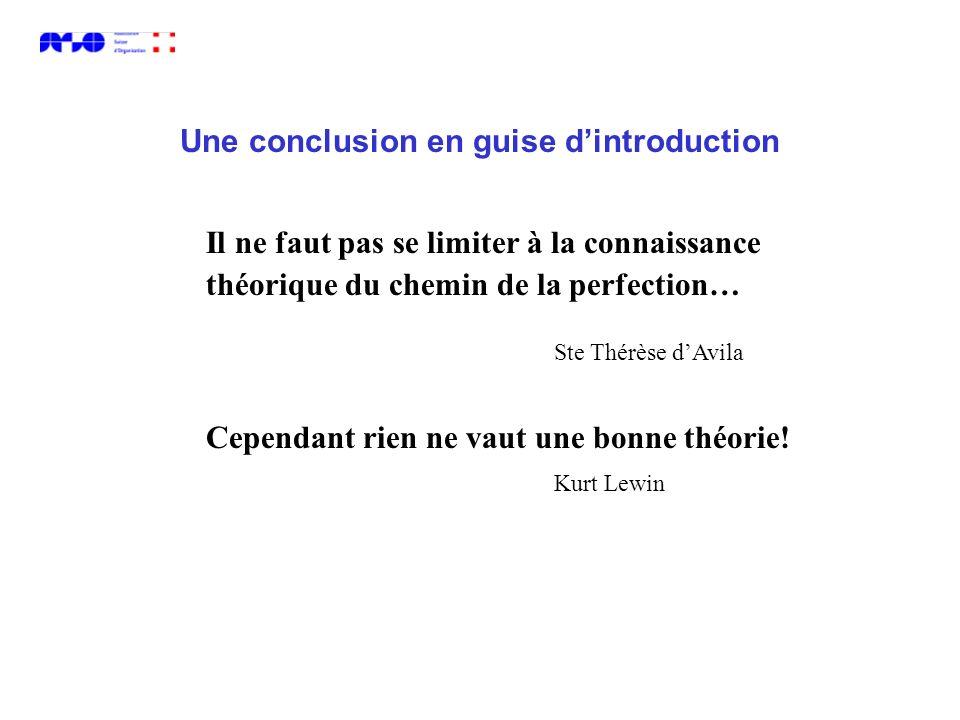 Il ne faut pas se limiter à la connaissance théorique du chemin de la perfection… Ste Thérèse dAvila Cependant rien ne vaut une bonne théorie! Kurt Le