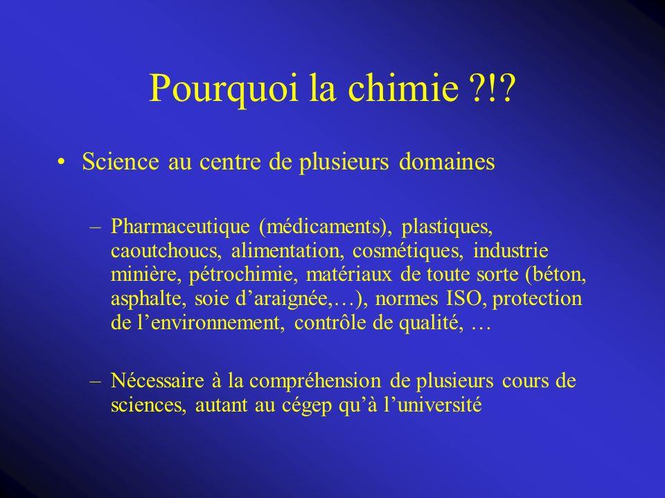 Chapitre 1: La chimie, matière et mesure 1.1 La chimie: principes et applications Chlore -10 000 composés à base de chlore -Chlore présent dans les CFC et les insecticides