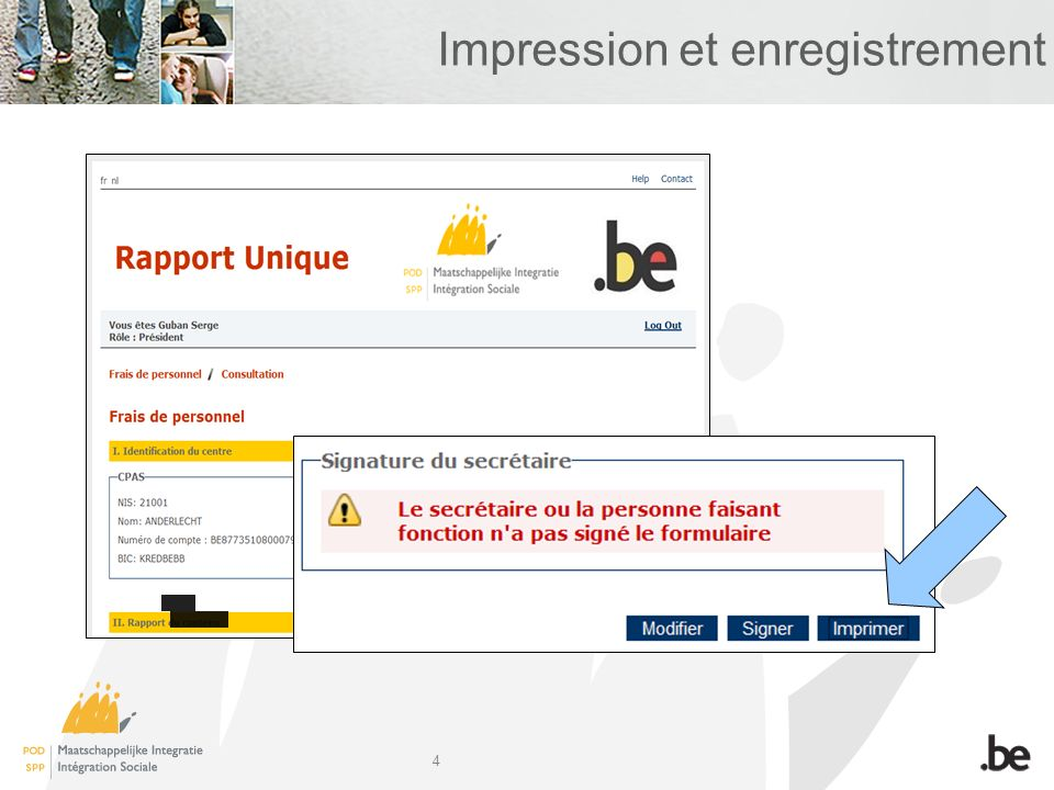 4 Impression et enregistrement