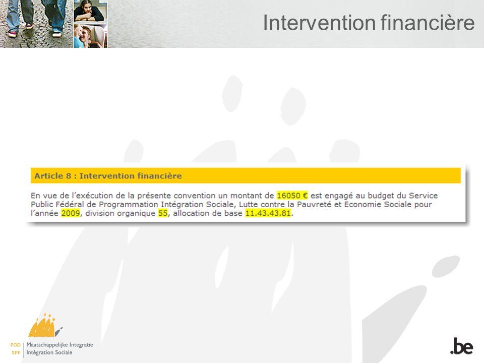 Intervention financière